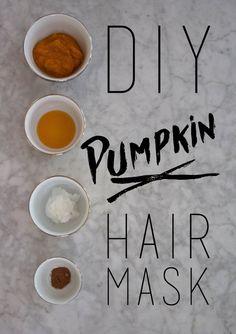 DIY Pumpkin Hair Mask For Hydrated, Bouncy Hair!