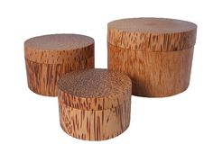 Coconut Wood Nested Boxes