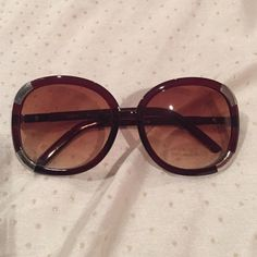Brown Sunglasses Brown shades with silver details/ Never been used/ BRAND NEW CONDITIONS Accessories Sunglasses