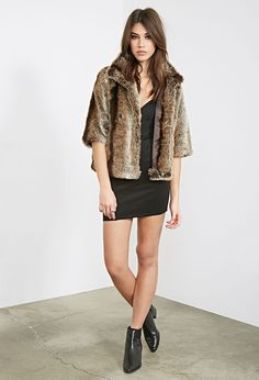 High-Collar Faux Fur Jacket - Jackets & Coats - 2000082850 - Forever 21 EU
