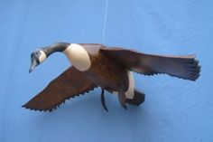 Hand carved Flying Canada Goose decoy by RobertKellyCarvings, $163.99