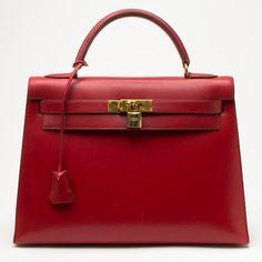 Hermes Kelly 32 In Red