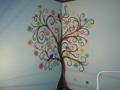 """trees painted on walls 