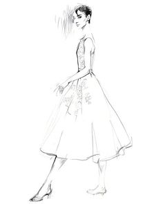 wonderful illustration Audrey Hepburn  Fashion design Fashion illustration