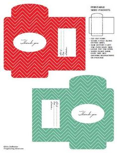 inexpensive gift idea: printable seed packets