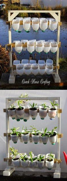 all-garden-world: Vertical Garden Using Plastic Milk Bottles