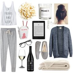 """Night In"" by yatundi on Polyvore"