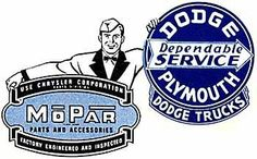 Dodge, Plymouth, Mopar service sign