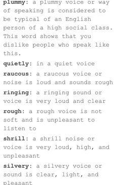 The way to describe someones voice PART 3