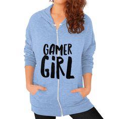 Gamer Girl Zip Hoodie (on woman)