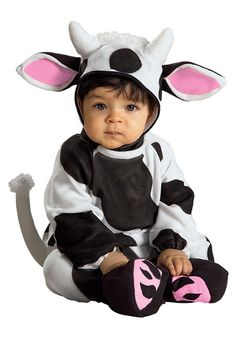 This infant cow costume is a great baby cow Halloween costume. Get this cow costume for a cute baby animal costume for Halloween or other events. Baby Animal Costumes, Cute Baby Costumes, Toddler Costumes, Cow Costumes, Children Costumes, Cute Baby Halloween Costumes, Toddler Halloween, Halloween Halloween, Halloween Parties