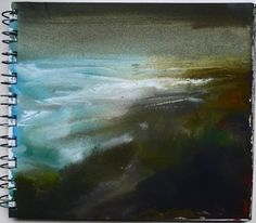 Kristan Baggaley Sketch of Sea and Coast. Ink