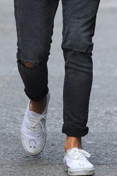 grey jeans white vans simple nice look fashion streetstyle men tumblr style
