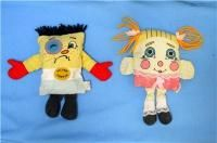 Pillow People. Roger and I had these exact ones! kinda of creepy now that you look at them.