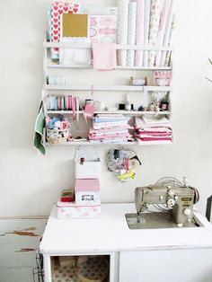 Wall Mounted Craft Storage for Gift Wrapping supplies