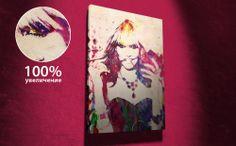 АРТ-ПОРТРЕТ по фотографии на заказ • Выполнен абстрактными мазками разных цветов • Сроки создания макета 1-3 дня • Печать на холсте • Экспресс доставка по России 1-2 дня. Источник: http://www.lidart.ru/#!art-portret/c1k1p
