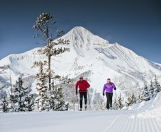 Lone Mountain Ranch offers cross country skiing on beautifully groomed trails. You cannot beat that view! Montana Winter, Big Sky Montana, Ski Montana, Nordic Skiing, Alpine Skiing, Big Sky Resort, Winter Wonder, Winter Fun, Winter Snow