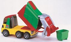 Very durable and fun Bruder garbage truck for toddlers