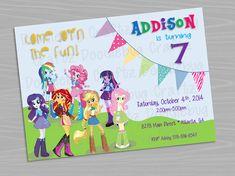 My Little Pony Equestria Girls - Birthday Party Invitation - Printable – DoodlebugCraftz