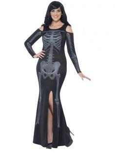 Déguisement squelette impactant femme grande taille