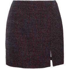 Carven Tweed Fantaisie Mini Skirt ($460) ❤ liked on Polyvore featuring skirts, mini skirts, mini skirt, tweed skirt, short tweed skirt, carven skirt and tweed mini skirt