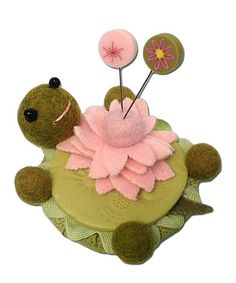 Look what I found on #zulily! Lazy Turtle Pincushion Kit by Just Another Button Company #zulilyfinds