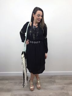 A versatile addition to your wardrobe, this black dress from Noa Noa would be a vintage inspired choice for day or night. Crepe Fabric, Festival Fashion, Vintage Inspired, Fashion Inspiration, Cold Shoulder Dress, Tunic, Long Sleeve, Clothes, Shopping