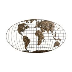 Southern Enterprises Iron World Map Wall Art ** For more information, visit image link. (This is an affiliate link) #HomeDecoration