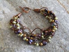 Edges Bracelet (Customer Design) Step by step instructions plus detailed product list. Lots more tutorials and tips from Lima Beads!Step by step instructions plus detailed product list. Lots more tutorials and tips from Lima Beads! Wire Jewelry, Jewelry Crafts, Beaded Jewelry, Jewelery, Jewelry Bracelets, Jewelry Accessories, Jewelry Design, Art Du Fil, Jewelry Making Tutorials