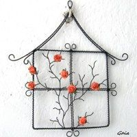 Flowers in my house Wire Trees, Wire Crafts, Wire Art, Paper Quilling, Diy Projects To Try, Metal Jewelry, Wire Wrapping, Holiday Decor, Sun Catcher