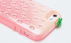 This is SO adorable!!! Strawberry iPhone case! :)