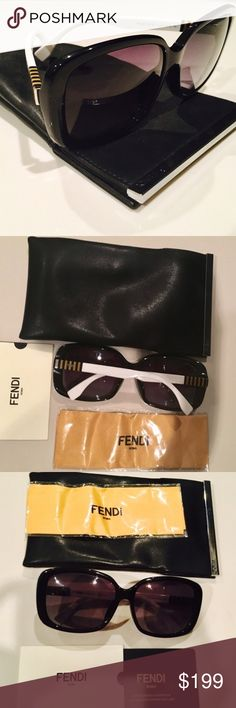 ❗️Thanksgiving SALE ❗️100% Authentic FENDI Sunglas Brand New With Tags! Has Never Been Worn . 100% Authentic FENDI Sunglasses 😎 Beautiful gold stripes on the side. Fendi Accessories Glasses