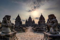 Candi Sewu, located 800 meters north of Prambanan in Central Java, Indonesia. Candi Sewu is actually the second largest Buddhist Temple in Central Java after Borobudur.