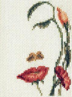 Скачать Вышивка «Лицо-цветы» бесплатно. А также другие схемы вышивок в разделах: , Altro, Donne, Fiori