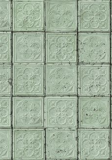 Brooklyn Tins wallpaper by MERCI TIN-05    Wallpaper that looks like vintage tin tiles