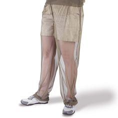 Mosquito Net Pants.  Forget the smelly, toxic chemical bug sprays when you step outside into the battleground and just slip on these cool new Mosquito Net Pants instead.