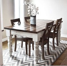 12 Free Farmhouse Table Plans For The Beginner