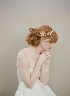 {style inspiration : tiaras made of pretty petals & gilded leaves} by {this is glamorous}, via Flickr