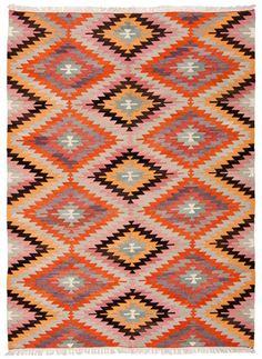 vintage loom rug