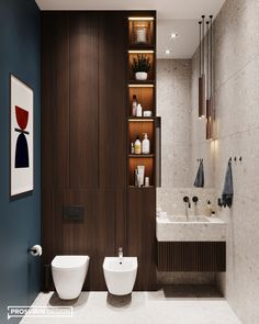 The bathroom from the project is contrasting and stylish. The wall behind . Bathroom Niche, Small Bathroom, Bathrooms, Bathroom Ideas, Modern Bathroom Design, Bathroom Interior Design, Bathroom Designs, Apartment Interior Design, Interior Styling