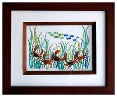 Sea Glass Crabs and fish by RachelDrakeStudio on Etsy, $77.00