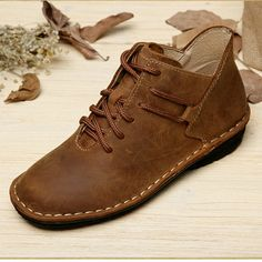 57.48$  Watch here - http://ali7o0.worldwells.pw/go.php?t=32441134822 - Handmade Flat Shoes Genuine Leather Lace up Oxford Shoes Vintage Burnish Leather Moccasins Ladies Flats (985) 57.48$