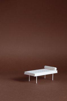3D print Sergio Magnano PLA Barcelona Mies Van der Rohe, per Knoll