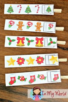 FREE Christmas Preschool Centers Patterns
