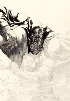 Bernie Wrightson's original art from Frankenstein, unpublished chapter 11 Shading Drawing, Gravure Illustration, Bernie Wrightson, Monochromatic Art, Comic Drawing, Arte Pop, Ink Illustrations, Horror Comics, Comic Artist