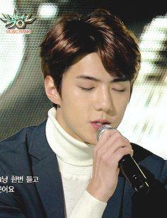 sehun is so beautiful when he's singing! (2/4)