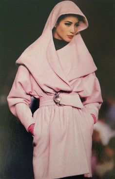 Christy Turlington: Claude Montana for Lanvin