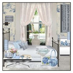 """Toile de Jouy!"" by eco-art ❤ liked on Polyvore featuring interior, interiors, interior design, home, home decor, interior decorating, Crate and Barrel, SANDERSON, Ethan Allen and Mitchell Gold + Bob Williams"