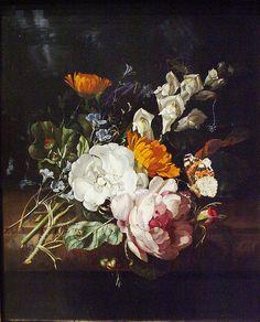 Flowers Still Life 1690, by Rachel Ruysch, via Flickr.