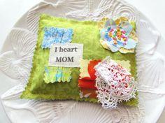 Mother's Day Sachet Lavender sachet I love Mom by Itsewbella, $7.00